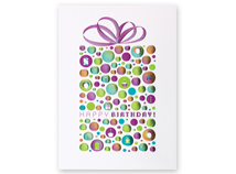 Bubble Dot Gift Birthday Greeting Card